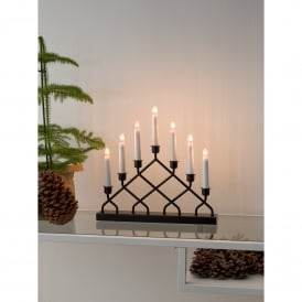 Criss Cross 7 Light Welcome Light with Black Finish