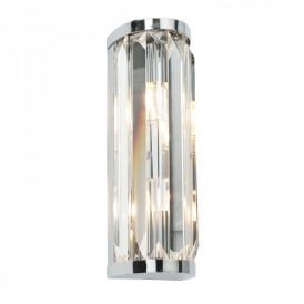 Crystal 2 Light Wall Fitting In Polished Chrome And Crystal Finish