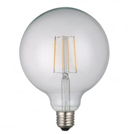 6w Dimmable LED E27 Clear Classic Globe Style Bulb in Warm White