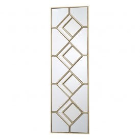 002KIP9830 Kipton Decorative Rectangular Mirror with Gold Foil Effect