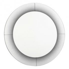 002RAG90 Ragusa Round Decorative Mirror With Shadowed Effect Print Edging And Glitter Detail