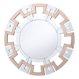 002VEO80 Veona Decorative Mirror with Rose Gold Detail