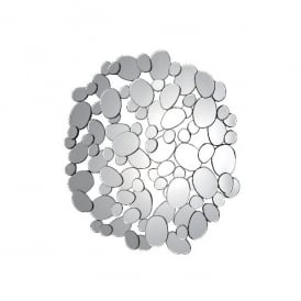 Bio Decorative Round Mirror in a Pebble Design