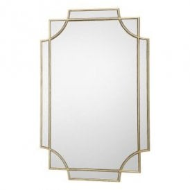 Guapo Decorative Mirror With Gold Gilded Effect Edging