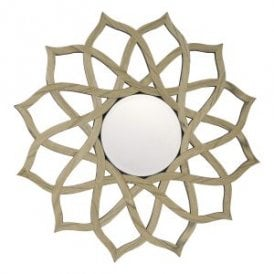 Legno Decorative Mirror With Real Wood Veneer Edging