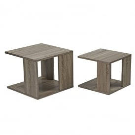 Rory Nest Of 2 Tables in Oak Wood Effect Finish
