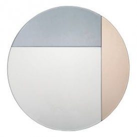 Thalia Round Decorative Mirror With Smoked And Rose Gold Effect