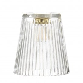 ACC865 Easy Fit Ribbed Glass Pendant Accessory Shade Only