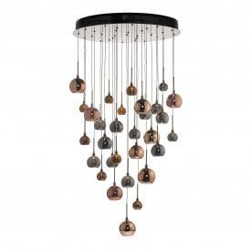 AUR3364 Aurelia 30 LED Ceiling Pendant in Black Chrome Finish