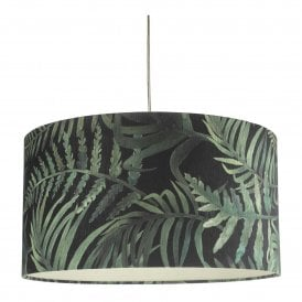 BAM6555 Bamboo Easy Fit Small Pendant Shade in Green Leaf Print