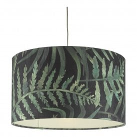 BAM8655 Bamboo Easy Fit Large Pendant Shade in Green Leaf Print