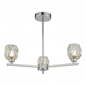 IDI5350 Idina 3 Light Semi Flush Ceiling Fitting in Polished Chrome Finish