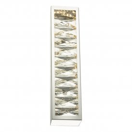 LAN3050 Landon Single Light LED Wall Fitting In Polished Chrome And Crystal Finish