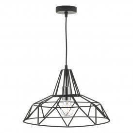 HIT0122 Hitika Single Light Ceiling Pendant In Black Finish