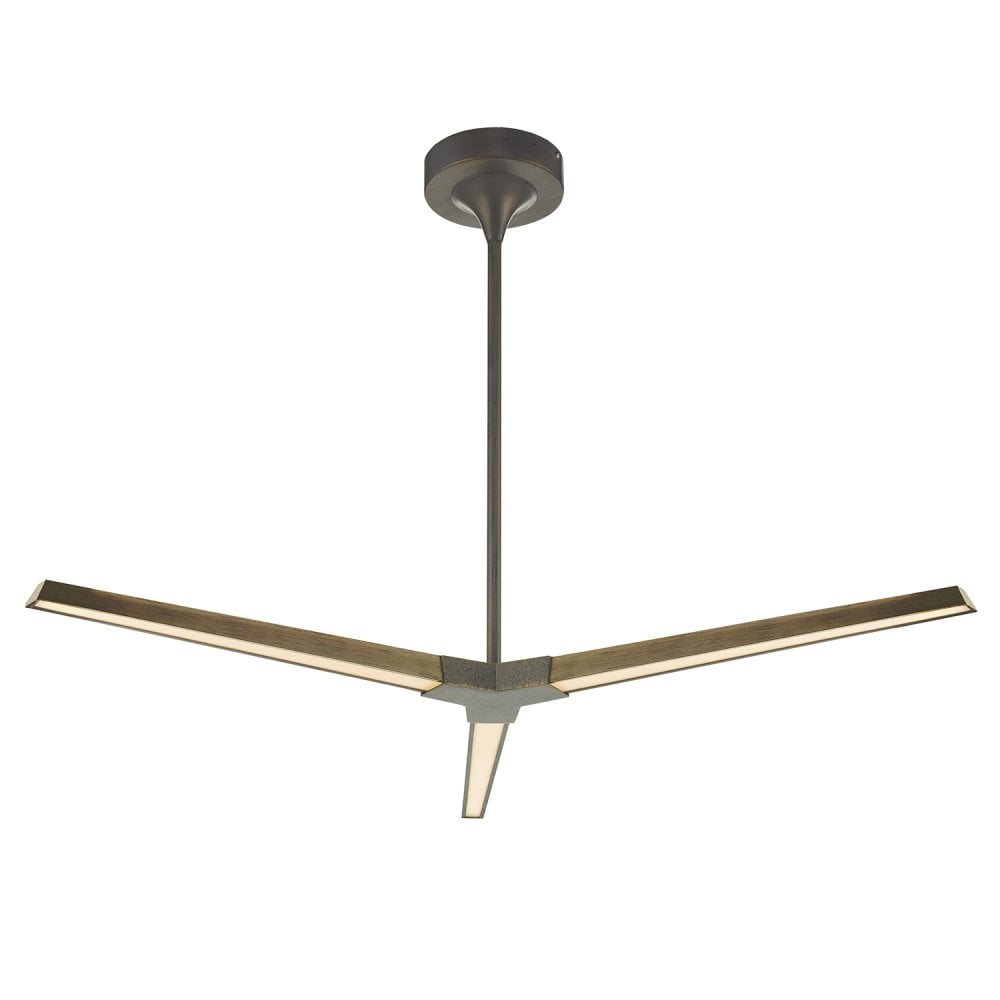 Rot0363 rotor led ceiling fitting in bronze finish