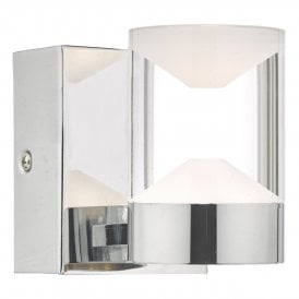 SUS0750 Susa Single Light Bathroom Wall Fitting In Polished Chrome Finish