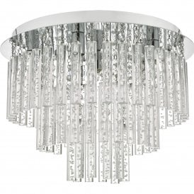 PAU5450 Paulita 5 Light Bathroom Ceiling Fitting in Polished Chrome and Clear Glass Finish