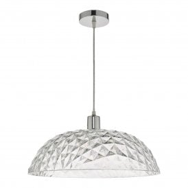 TOB8608 Tobin Easy Fit Large Pendant Shade in Faceted Acrylic Finish