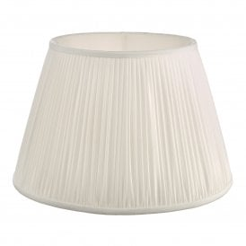 ULY1615 Ulyana 40cm Ivory Faux Silk Tapered Pleat Drum Shade