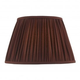 ULY1658 Ulyana 40cm Burgundy Faux Silk Tapered Pleat Drum Shade