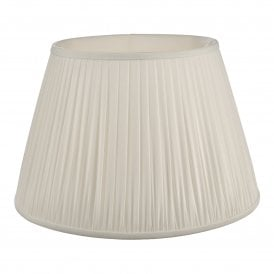 ULY1815 Ulyana 45cm Ivory Faux Silk Tapered Pleat Drum Shade