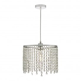 YIA6508 Yiannis Easy Fit Clear Crystal Pendant Shade