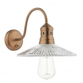 Adeline Single Light Switched Wall Fitting In Antique Copper Finish