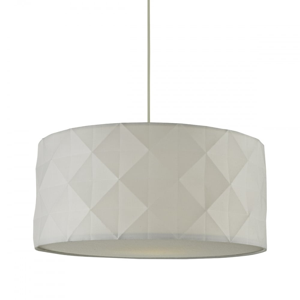 Aisha Easy Fit Pendant Shade In White Cotton Finish  sc 1 st  Castlegate Lights & Dar Lighting Aisha Easy Fit Pendant Shade In White Cotton Finish ...