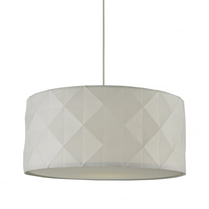 Dar Lighting Aisha Easy Fit Pendant Shade In White Cotton Finish