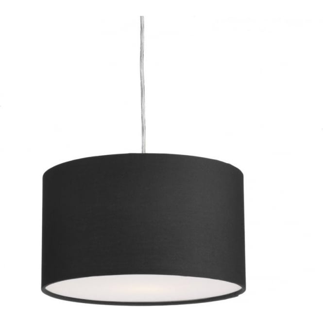 Dar Lighting Almeria Large Easy Fit Ceiling Light Pendant Shade in Black Finish