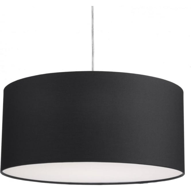 Dar Lighting Almeria Large Easy Fit Ceiling Light Pendant Shade in Black