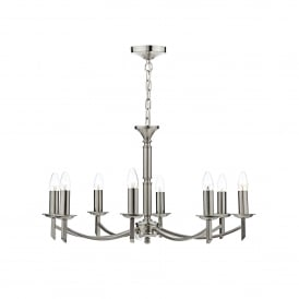 Ambassador 8 Light Ceiling Fitting in Satin Chrome Finish