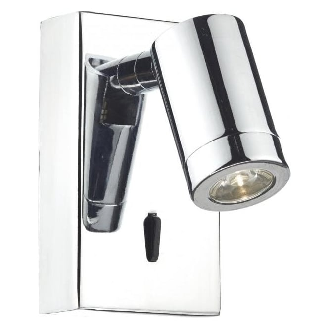 Dar Lighting Anvil LED Switched Wall Light in Polished Chrome Finish