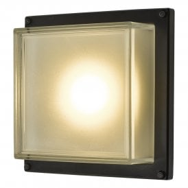 Aquilina Single Light LED Outdoor Wall Fitting In Matt Black Finish