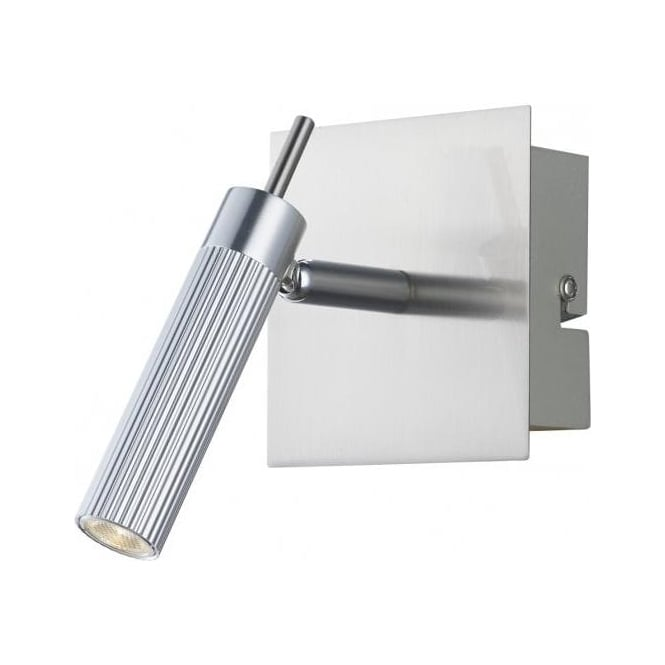 Dar Lighting Arno Single Light Switched Wall Spotlight in Polished and Satin Chrome Finishes