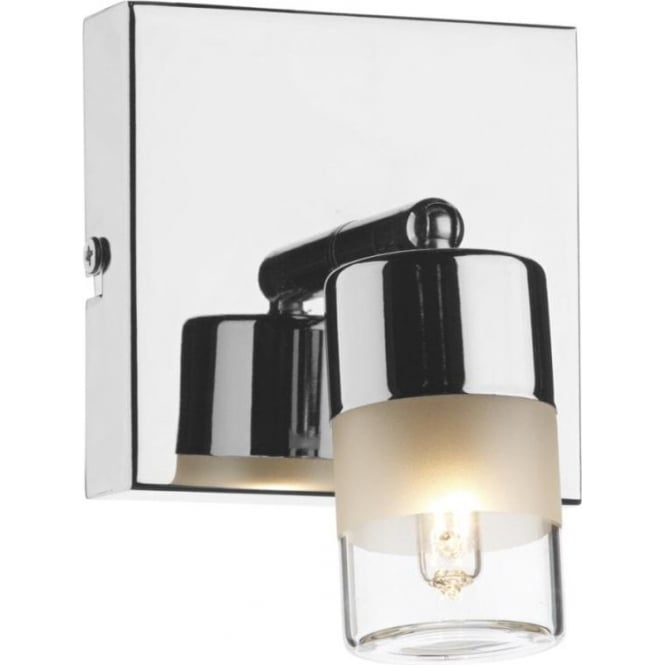 Dar Lighting Artemis Single Light Spotlight Wall Fixture in Polished Chrome