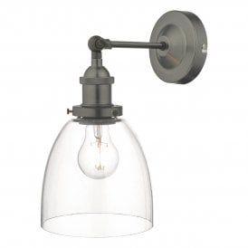 Arvin Single Light Wall Fitting In Antique Chrome Finish