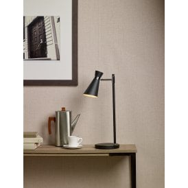 Ashworth Single Light Table Lamp In Black And Polished Chrome Finish