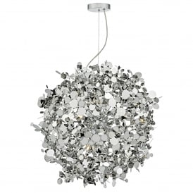AST1250 Astrid 12 Light Ceiling Pendant in Polished Chrome Finish