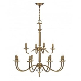 Atlanta 12 Light Chandelier in a Luxury Pale Brass Finish