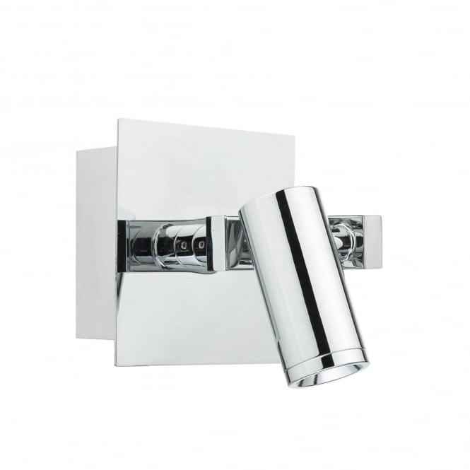 Dar Lighting Bex Single Light LED Wall Fitting In Polished Chrome Finish