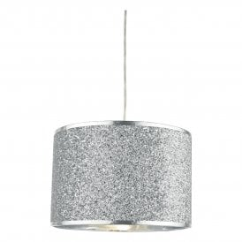 Bistro Easy Fit Pendant Shade in Silver Glitter Finish