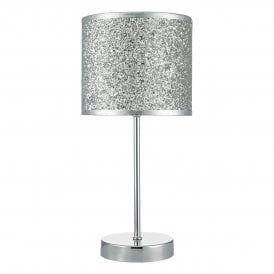 Bistro Single Light Table Lamp with Polished Chrome Finish