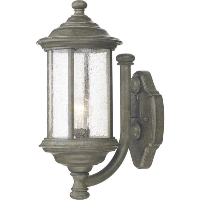 Dar lighting brompton single light outdoor wall fixture in old iron brompton single light outdoor wall fixture in old iron with seeded glass aloadofball Gallery
