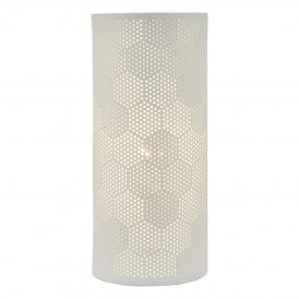 BRY412 Bryn Single Light Table Lamp in White Finish