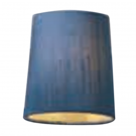 Byron 100% Silk Candle Clip Shade In Delph Blue Finish