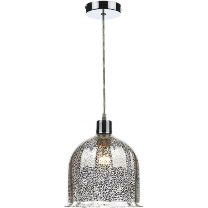 Dar Lighting Cembalo Easy Fit Ceiling Light Shade in Antique Silver