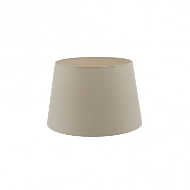 Dar Lighting Cezanne 40cm Ecru Faux Silk Tapered Drum Shade