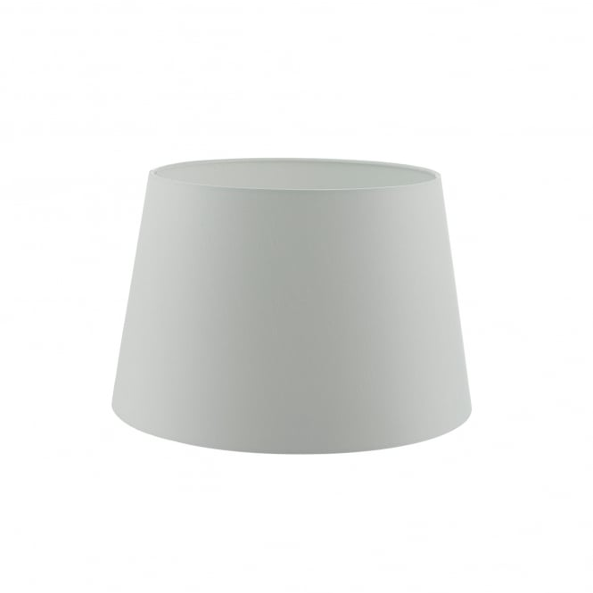 Dar Lighting Cezanne 40cm Porcelain White Faux Silk Tapered Drum Shade