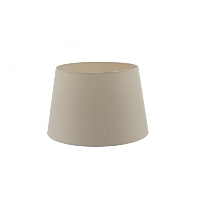 Dar Lighting Cezanne 45cm Ecru Faux Silk Tapered Drum Shade